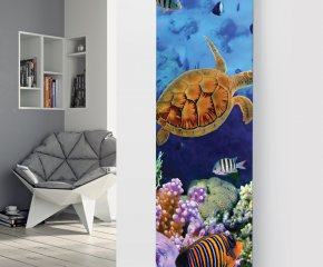 Panio Crystal Glass Picture Designer Radiator P31 Marine Fish Image