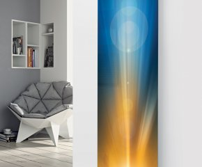 Panio Crystal Glass Picture Designer Radiator P34 Sunrise Image