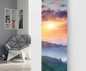 Panio Crystal Glass Picture Designer Radiator P35 Sunset Image