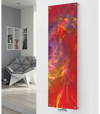 Panio Crystal Glass Picture Designer Radiator P39 Red Art Image