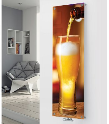 Panio Crystal Glass Picture Designer Radiator P43 Pouring Lager Image