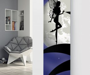 Panio Crystal Glass Picture Designer Radiator P45 White Moon Fairy Image