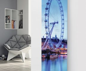 Panio Crystal Glass Picture Designer Radiator P48 London Eye Image