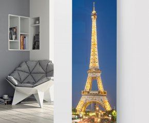 Panio Crystal Glass Picture Designer Radiator P52 Eiffel Tower Image