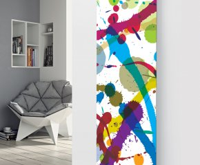 Panio Crystal Glass Picture Designer Radiator P54 Paint Splash Image