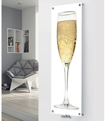 Panio Crystal Glass Picture Designer Radiator P71 Champagne Image