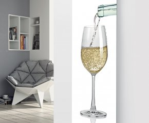Panio Crystal Glass Picture Designer Radiator P75 Pouring White Wine Image