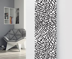 Panio Crystal Glass Picture Designer Radiator P76 Black and White Pattern Image