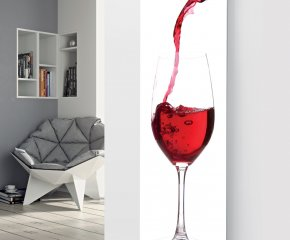 Panio Crystal Glass Picture Designer Radiator P78 Pouring Rose Wine Image