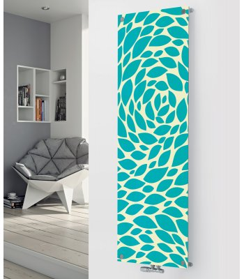 Panio Crystal Glass Picture Designer Radiator P89 Turquoise Pattern Image