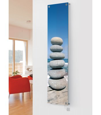Panio Crystal Glass Picture Electric Designer Radiator - P11 Pebbles Image