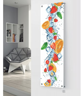 Panio Crystal Glass Picture Electric Designer Radiator - P135 Orange Fruit Splash Image