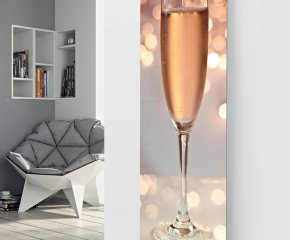 Panio Crystal Glass Picture Electric Designer Radiator - P24 Rose Wine Glass Image