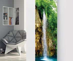 Panio Crystal Glass Picture Electric Designer Radiator - P26 Waterfall Image