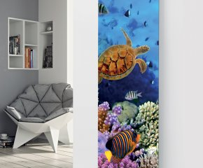 Panio Crystal Glass Picture Electric Designer Radiator - P31 Marine Fish Image