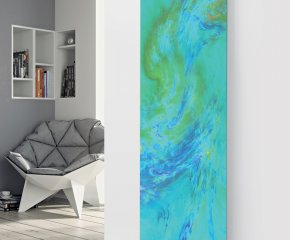 Panio Crystal Glass Picture Electric Designer Radiator - P61 Blue Art Image