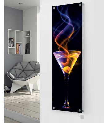 Panio Crystal Glass Picture Electric Designer Radiator - P87 Cocktail Spiral Image