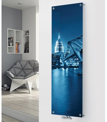 Panio Cystal Glass PIctureDesigner Radiator P188 MILLENNIUM BRIDGE IMAGE
