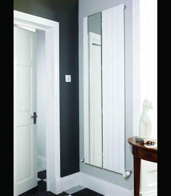 Panio flat panel designer radiator with part mirror for Mirror radiator
