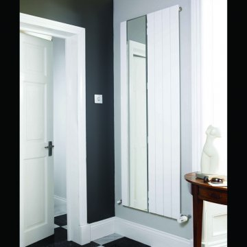 Panio Flat Panel Designer Radiator With Part Mirror