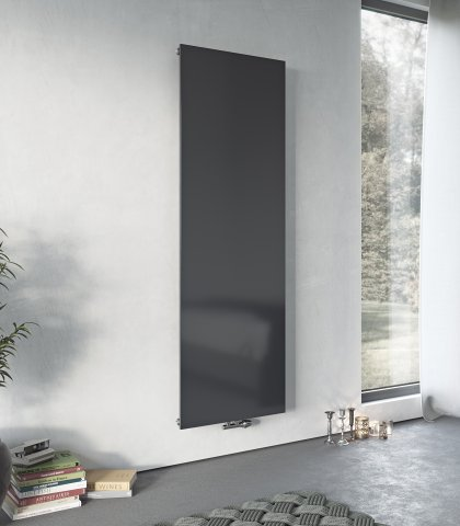 Panio Solid vertical Flat Front with central connection  Designer Radiator